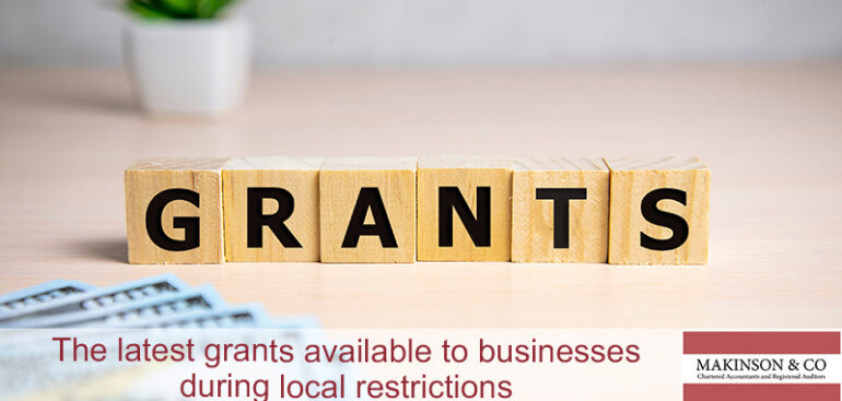 What are the latest grants available to businesses during local restrictions?